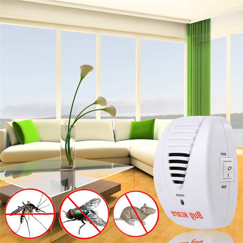 2016 New Hot Plug White Pest Repeller Electronic Ultrasonic Mouse Rat Mosquito Insect Rodent Control(China (Mainland))