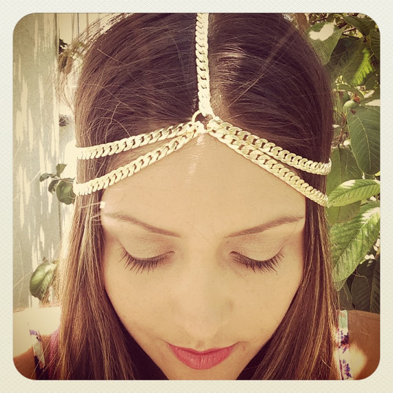 New Arrival !Chain headpiece, gypsy Head Chains For Women,hair head jewelry, Music Bridal hair Beaded Bohemian hair bands(China (Mainland))
