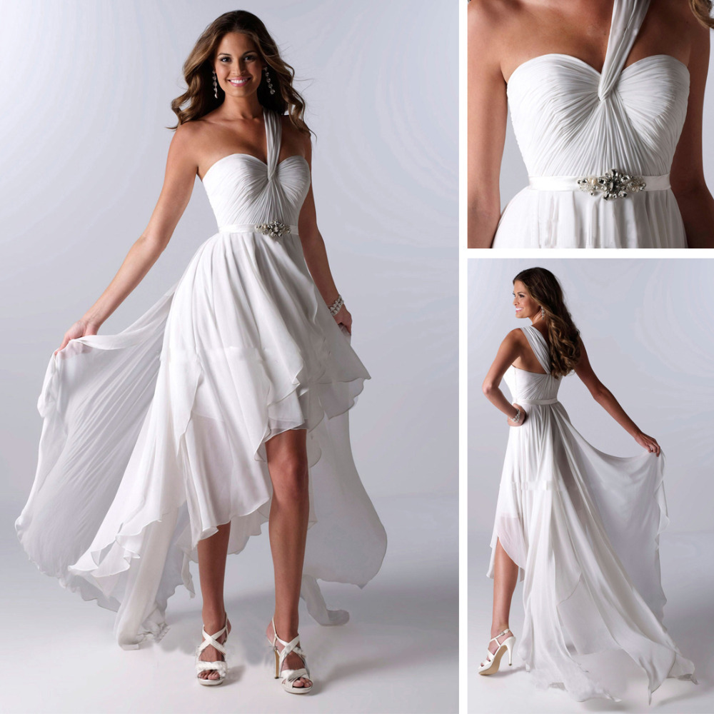 2013 chiffon short front long train wedding dress dresses for Wedding dress for less than 100
