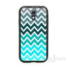 For iphone 4/4s 5/5s 5c SE 6/6s plus ipod touch 4/5/6 back skins cellphone cases cover Chevron Pattern Grey Fade Teal Blue