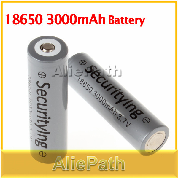 HOT!High Quality 2Pcs SecurityIng 3.7V 3000mAh 18650 Battery 18650 Rechargeable Battery(China (Mainland))