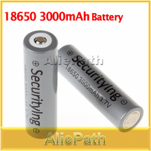 2Pcs SecurityIng 3.7V 3000mAh 18650 Rechargeable Batteries