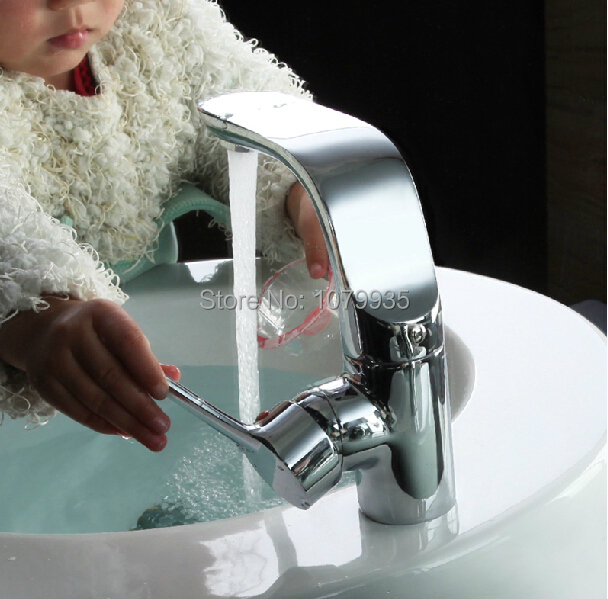 100 Brass Single Hole Bathroom Faucet Basin Faucets Hot And Cold Water Mixer Tap Faucet Kitchen