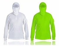 New Arrival Fishing clothes sun protection anti-UV breathable white Green men quick dry fishing outdoor sports