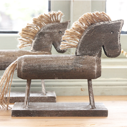 Free Shipping Handmade Wood Carving Single Props Wooden Horse Sculpture Wood Crafts Home Decoration(China (Mainland))