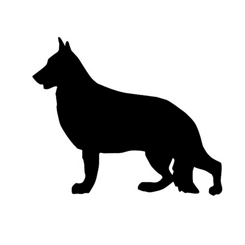 12*10CM German SHEPHERD Reflective Car Stickers Decorative Decals Car Dtickers Decals Cover Scratches CT-624(China (Mainland))