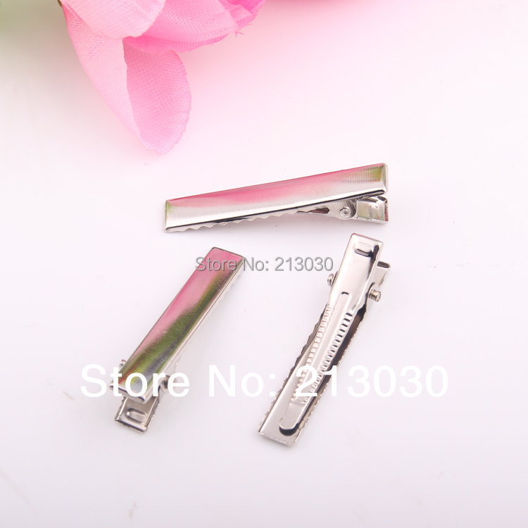 DIY Jewelry Finding Accessory 4CM Barrettes Rectangle Clip DUCK CLIP Rodium Plated Alligator Clip Hairband Grips 100pcs/lot(China (Mainland))