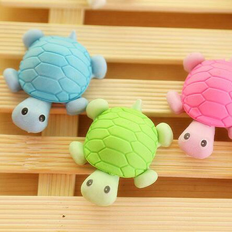 20pcs/Lot Cute Cartoon Turtle Shape Eraser Rubber Kid Child Gift Toy School Stationery Supplies Novelty Stationery Fashion Gift<br><br>Aliexpress