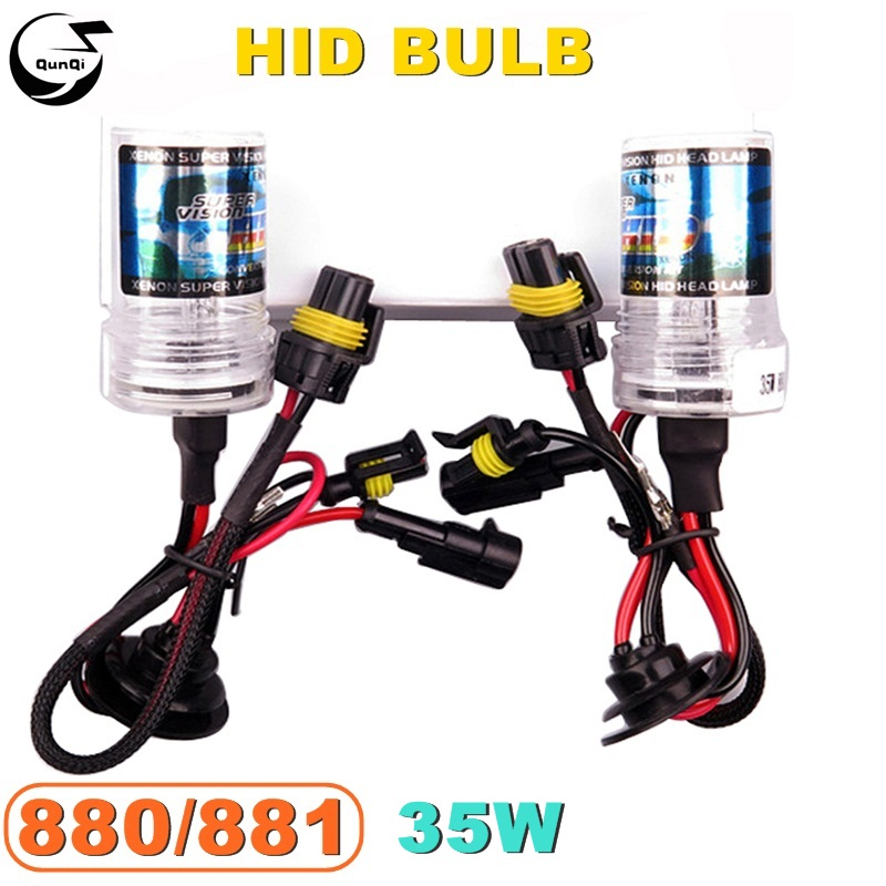 880/881 35W 12V Car HID Xenon Bulb Replacement Headlight Lamp Auto Styling Motorcycle Light Source 3000K 5000K 6000K 12000K