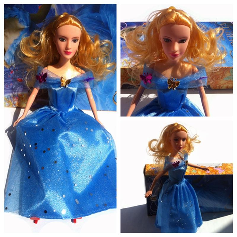 2015 hot sale 1 piece cinderella toy baby toys the most popular princess cinderella doll(China (Mainland))