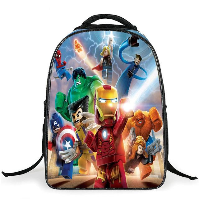 Высота милый lego betman мститель комикс рюкзак Разноцветный дети ранцы супермен ...