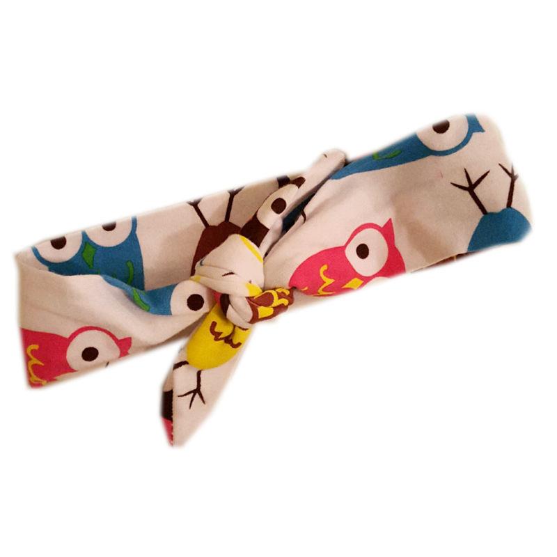 1 pc New Baby Girl Bow Animal Print Headband Rabbit Ear Turban Knot DIY Leopard Head Wrap Hair Band(China (Mainland))