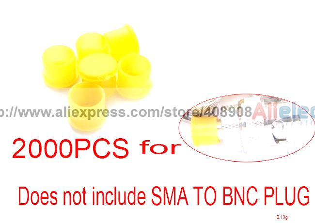 2000pcs Plastic Covers Dust Cap Yellow for RF SMA Female Connector(China (Mainland))