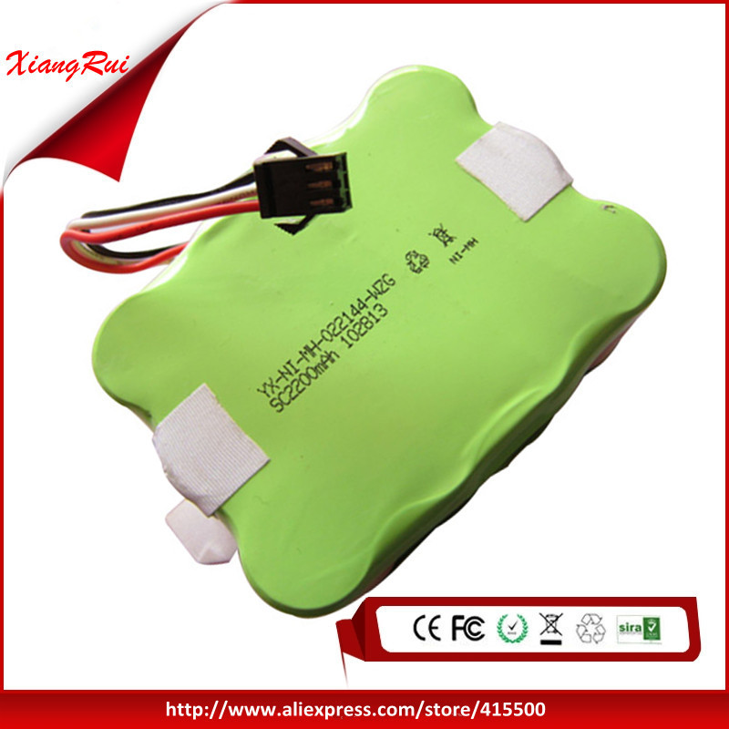 14.4V 2200mAh NI-MH Rechargeable Robot Vacuum Cleaner Battery For KV8 or Cleanna XR210 XR210A XR210B XR210C XR210D XR210E XR210F(China (Mainland))
