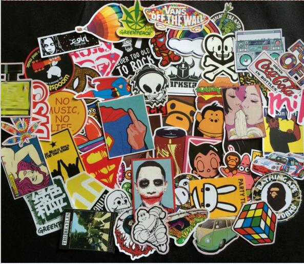Fashion cool DIY Stickers for Skateboard Laptop Luggage Snowboard Fridge Phone toy car Stickers Styling home decor Stickers(China (Mainland))