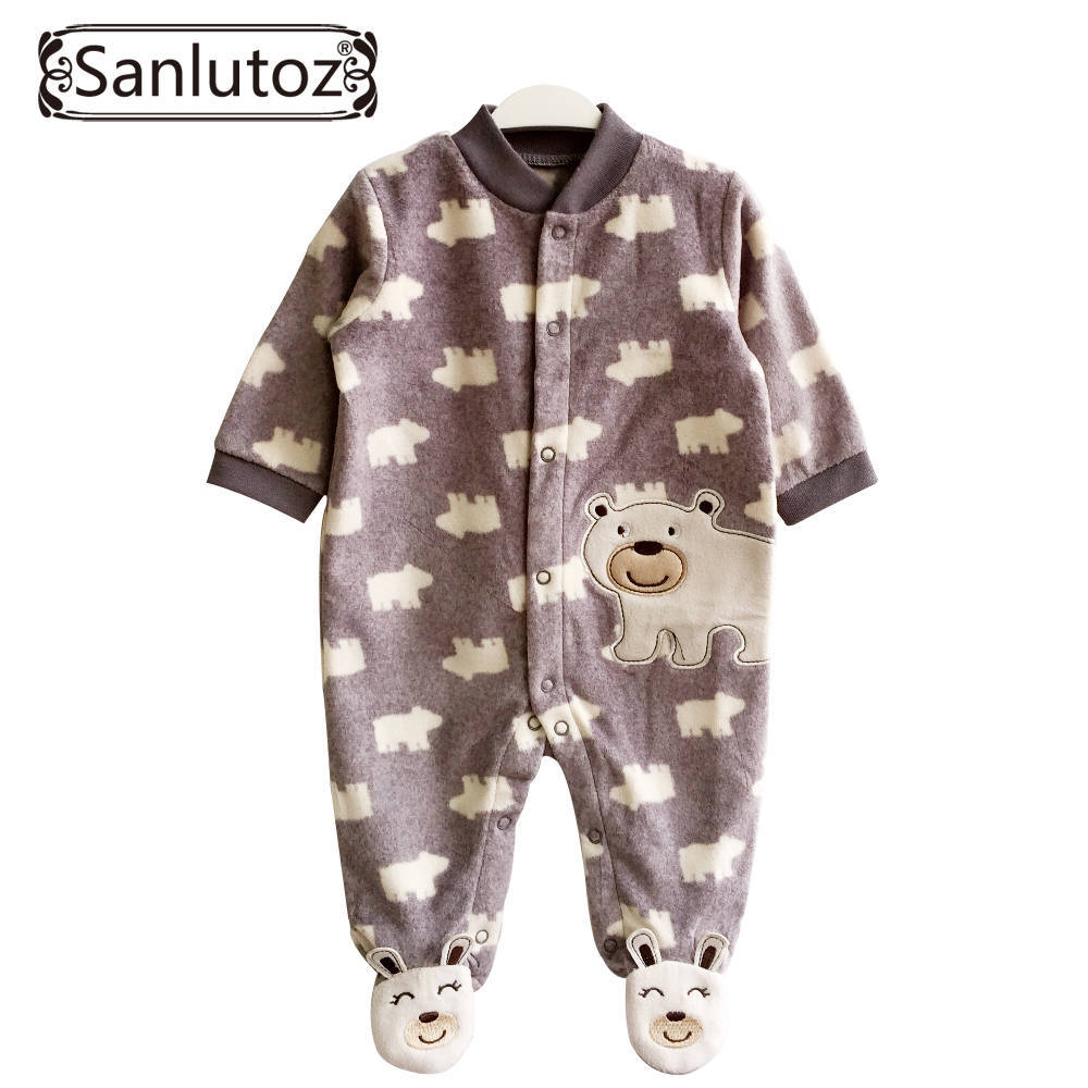 baby rompers winter baby clothing for newborns fleece. Black Bedroom Furniture Sets. Home Design Ideas