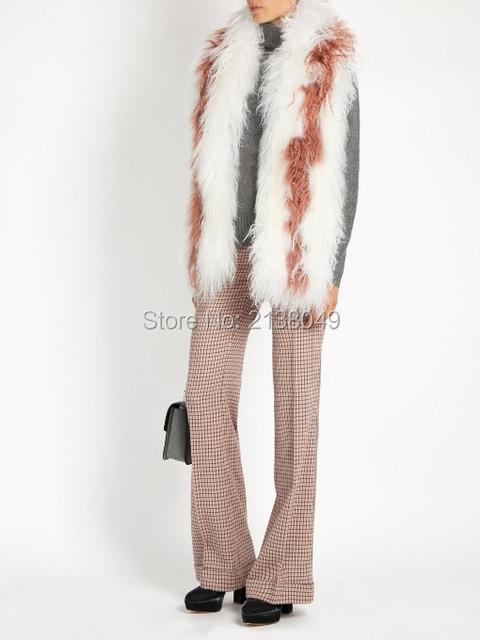 FS040 150*16 см белый цвет женщины роскошный украл натурального меха шарф