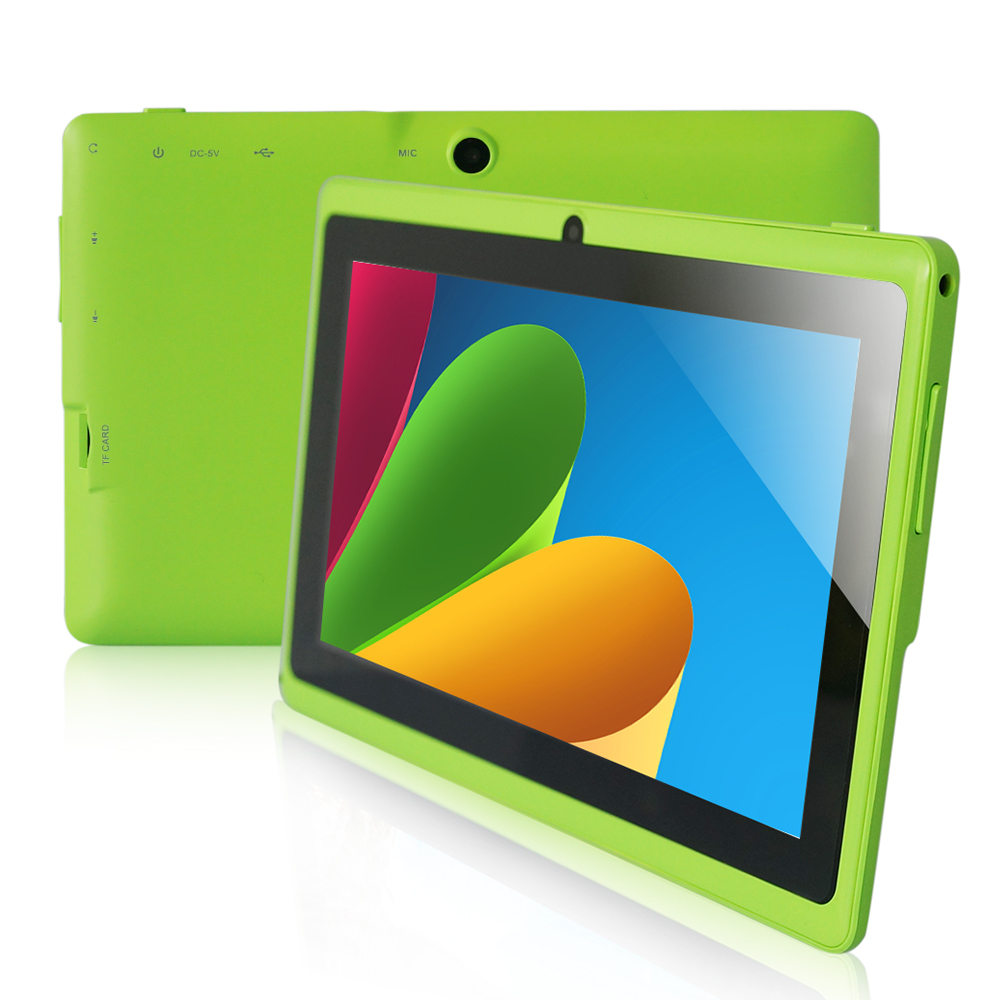 """7"""" A33 Quad Core 1.5GHz four Colors Q88 7 inch Tablet PC 1024 x 600 Dual Camera 2800mAh 8GB Android Tablet(China (Mainland))"""