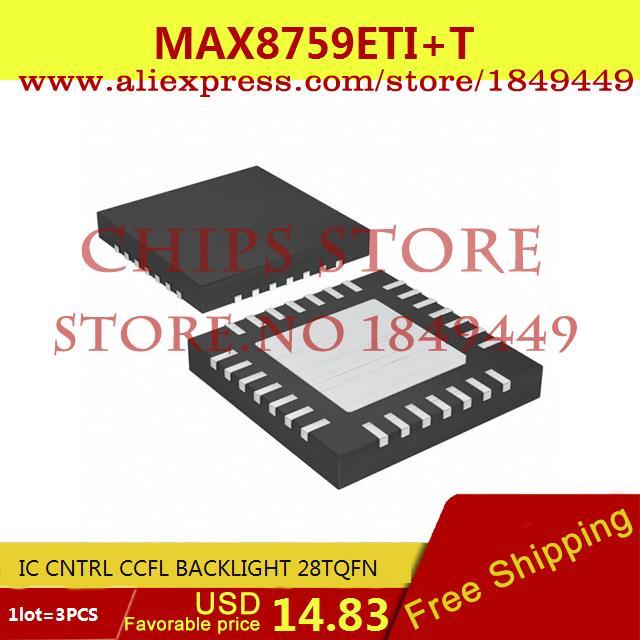 Free Shipping Integrated Circuits Types MAX8759ETI IC CNTRL CCFL BACKLIGHT 28TQFN 8759 MAX8759 8759E 3PCS(China (Mainland))