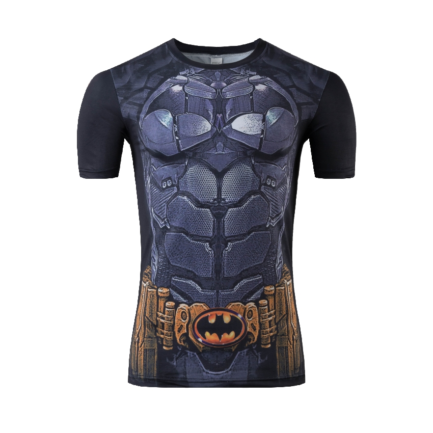 Newest fitness men short sleeve running sports t shirt men thermal muscle bodybuilding gym compression tights shirt(China (Mainland))