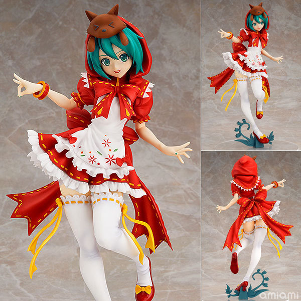 J.G Chen Anime Hatsune Miku Red Riding Hood Project DIVA 2nd PVC Action Figure Collectible Model Toy 23cm