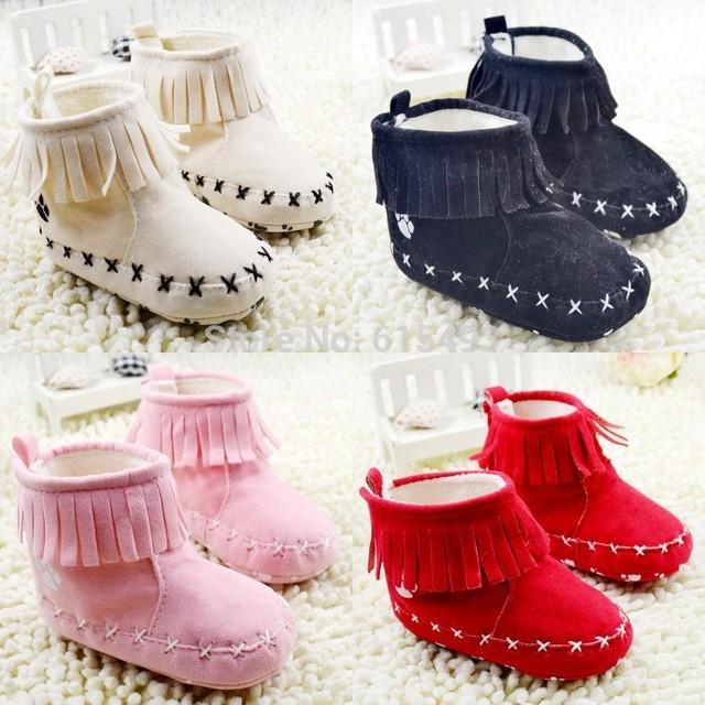 Newborn Winter Warm 2014 Fashion Tassels Baby Snow Boots Comfortable Anti-Skid Children's Toddler Shoes 4414