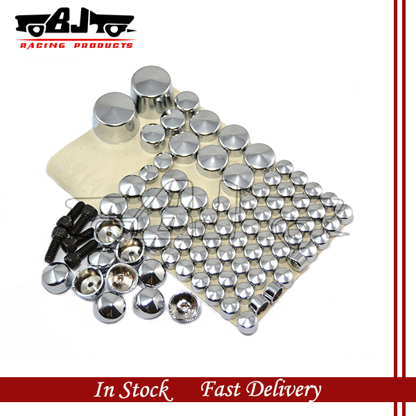 CBT247-005-CR motorcycle parts ABS Chrome Bolts Toppers Caps 2007&Up Harley Softail Twin Cam - GEN RACING PARTS store