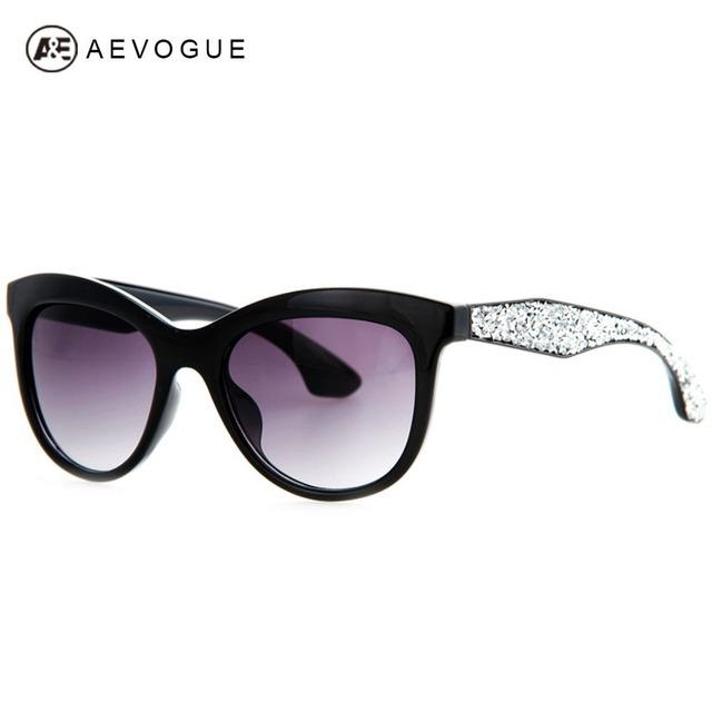 Aevouge бесплатная доставка новые марка Cat Eye солнцезащитные очки женщины высокое качество солнцезащитные очки горный хрусталь храм óculos UV400 AE0201