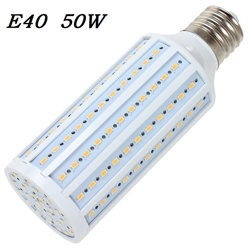 High brightness 50W LED bulb E40 LED Light 165 LEDs 5730 SMD LED Corn Lamp AC110/220V Warm White Cool White free shipping 1pcs(China (Mainland))