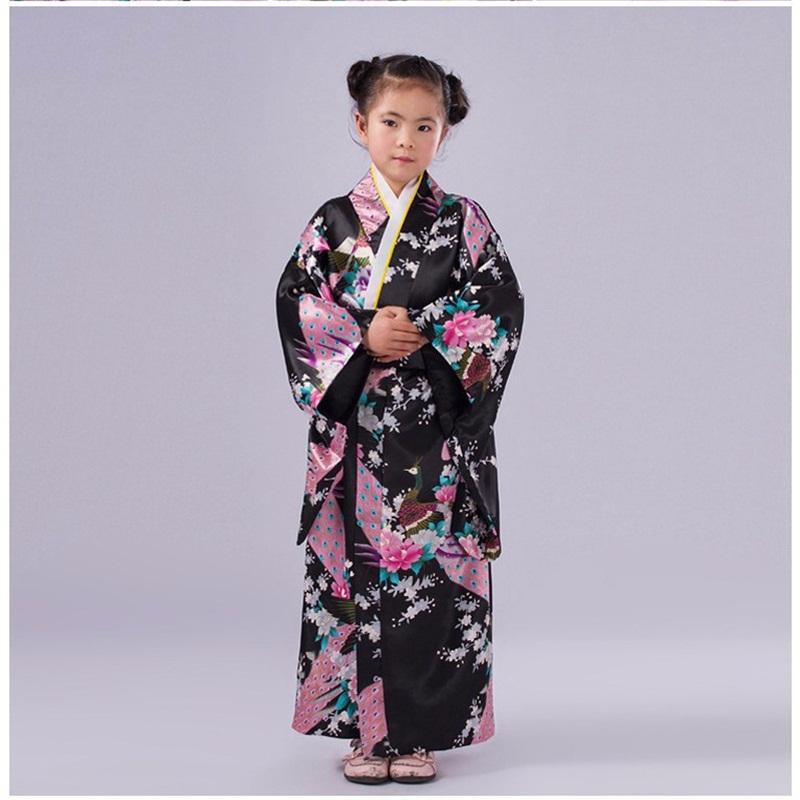 High Quality Child Cosplay Dress Japanese Baby Girl Kimono