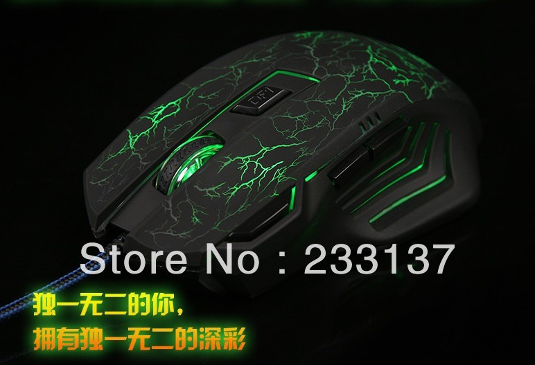 Free Shipping 500 1000 1500 2000 DPI USB 7D Professional Competitive Gaming Mouse For desktop PC