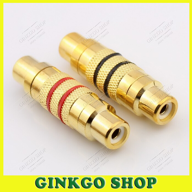 100pcs/lot Gold-Plated RCA Connector Female to Female RCA PlugF/F Audio Video AV Extension Coupler Converter Free Shipping<br><br>Aliexpress