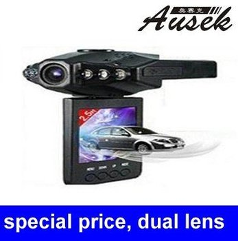 Lowest price car dvr car black box with 2.5inch  AV out car camera recorder