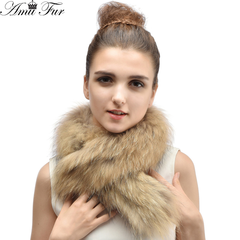 Woman Luxury Big Raccoon Fur Collar Good Quality Thick Raccoon Fur Scarf 2015 Hot Sale Warm Fur Wraps 5 Colors(China (Mainland))