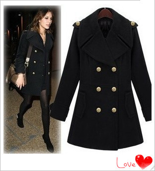A New Day Women's Long Blk Pea Coat M,L,XL Org. Retail $ FREE SHIPPING See more like this Men's Thicken Trench Coat Double Breasted Long Jacket Outwear Overcoat Peacoat Brand New.