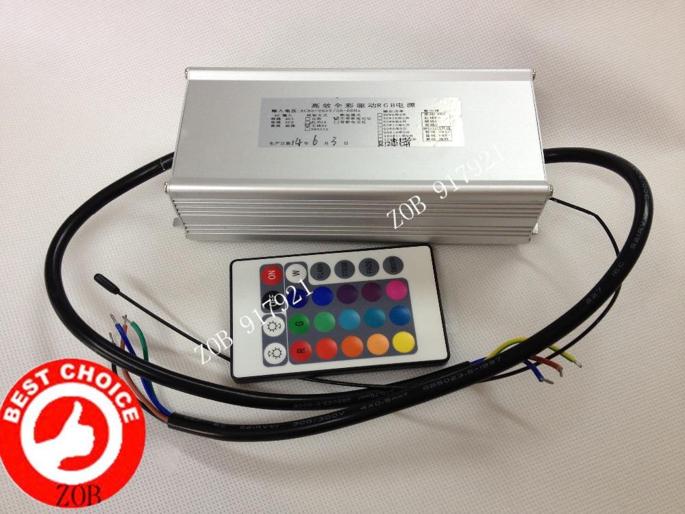 Здесь можно купить  80W RGB LED Driver Contains RGB with remote control Colorful waterproof constant current drive power RF power 433.92Mhz  Электротехническое оборудование и материалы