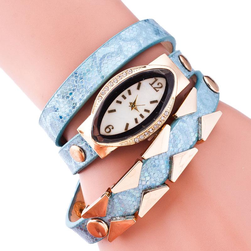 Fashion Women Dress Watch Trendy Top Luxury Brand ellipse ladies Rhinestone Quartz-watch Leather Wristwatch Female Clock Gift<br><br>Aliexpress