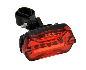 Waterproof Red Bike Bicycle 5 Flash LED Rear Tail Lamp Torch Back Light Safety Free Shipping 29