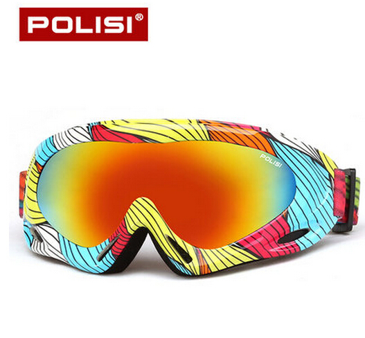 POLISI Outdoor Winter Sport Snowmobile Ski Goggles Kids Anti-Fog Snowboarding Protective Eyewear Children UV400 Skiing Glasses
