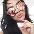Cat Eye women sunglasses Brand designer UV400 Rose Gold Mirror Cheap Lady Flat lens Cateye Sun
