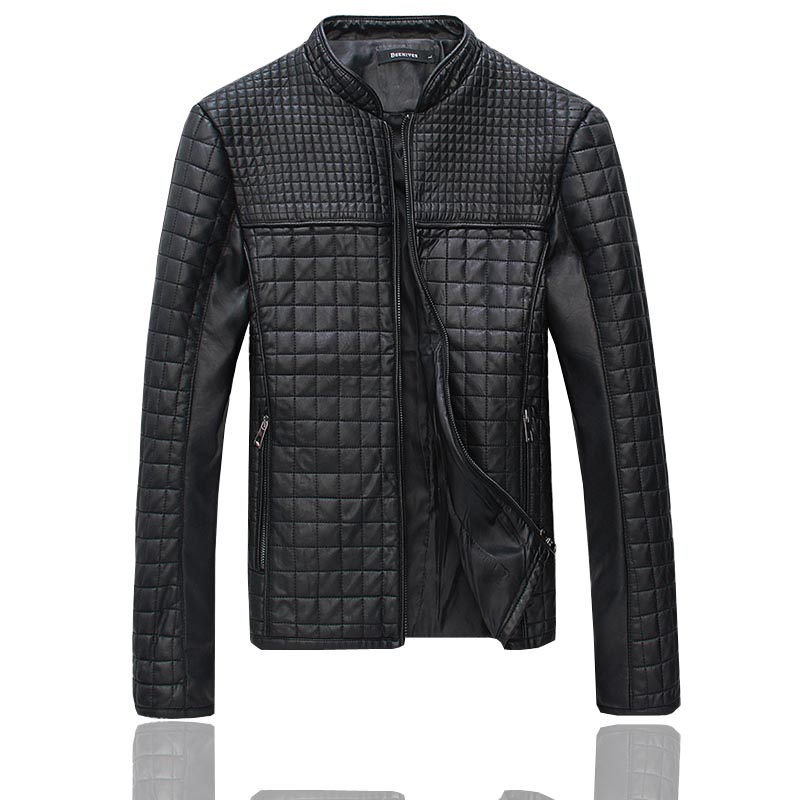 JJ Men's Leather jacket ,Water washed leather jacket for man ,fashion motorcycle jacket coat With velvet male ,Black ,Light Brow(China (Mainland))