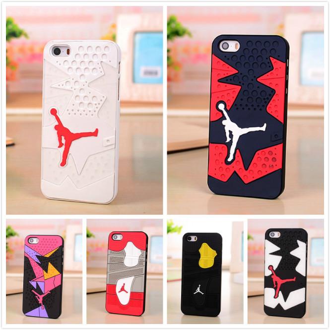 3D Air Jordan sneakers 4 6 7 Sole PVC Rubber Phone Case For iPhone 5 5s 6 6plus 6s plus Silicon Jumpman 23 AJ Sport Case Cover(China (Mainland))