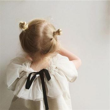 Bobo Choses Tops Baby Girls T-shirt Net Veil T-shirt Girls Net Veil Clothes Kids Princess Costume Party Clothing Infant Tops