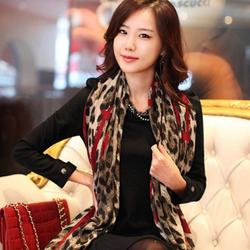 2016 New Infinity Spring Summer Luxury Brand for Women Fashionable Leopard Linen Scarves Shawls Silk Scarf 180*100 A71(China (Mainland))