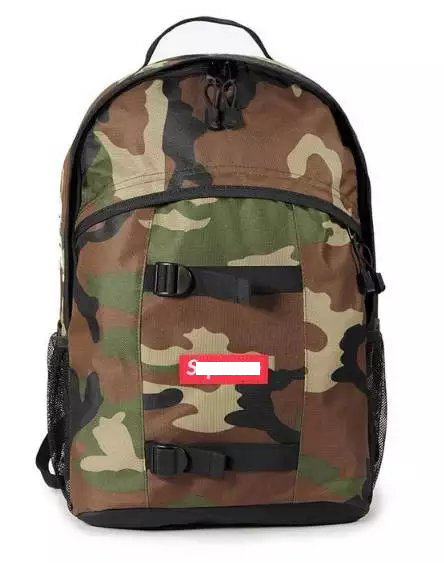 Sup 14SS 36TH SIDE Logo Backpack School bag streetwear skateboard bag(China (Mainland))