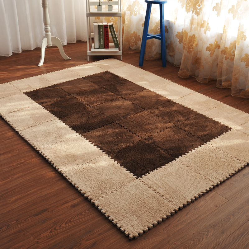 Carpet Tatami Velvet Patchwork Floor Mats Encryption Thickening Puzzle Foam Pad Bedroom Rugs