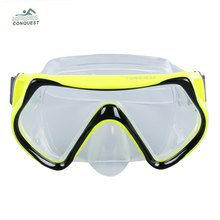2016 Summer Hot Conquest Swimming Diving Mask Anti-fog Snorkeling Equipment for Water Sports(China (Mainland))