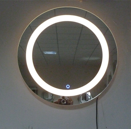 600 round belt led bathroom mirror lighting mirror glass touch screen vanity mirror classic ...