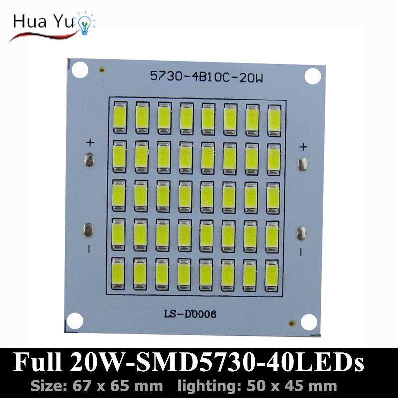 20W SMD5730 1800-2000lm PCB with SMD5730 for floodlight, road light, Warm white/white color Aluminum plate base with leds<br><br>Aliexpress