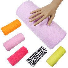 Wholesale New Nail Art Rest Hand Pillow Washable Manicure Cushion flannelette Hand Holder Manicure Care 50pcs/lot free shipping(China (Mainland))